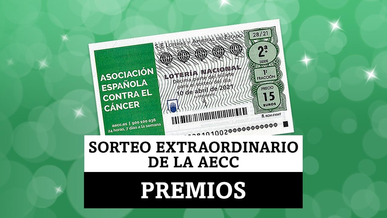 ¿Qué premios se juegan en el Sorteo Extraordinario Lotería Nacional de la Asociación Española Contra el Cáncer del 10 de abril?