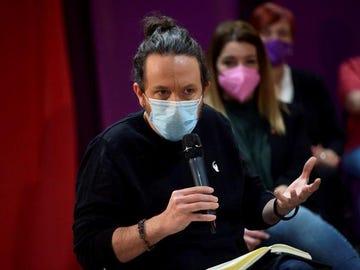 Pablo Iglesias durante un acto sobre la sanidad