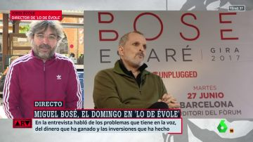 """Évole, sobre su entrevista a Miguel Bosé: """"Vivió episodios en su infancia con los que se te pone la piel de gallina"""""""