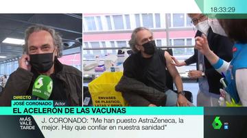 José Coronado se vacuna contra el coronavirus