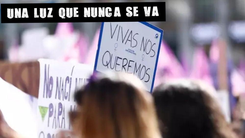 Pancarta en la manifestación del 8M
