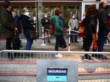 Momento de la campaña de vacunación en Madrid