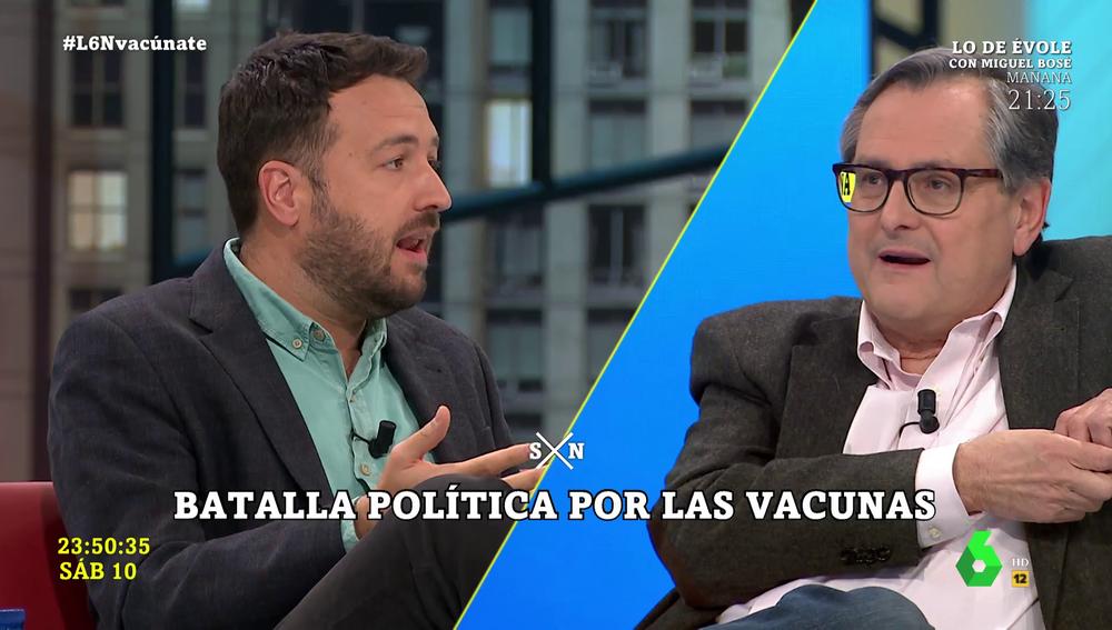 Juanlu Sánchez y Marhuenda en laSexta Noche