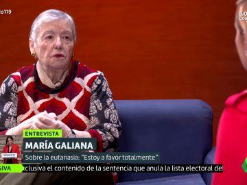 """El alegato de María Galiana en defensa de la eutanasia: """"Estoy a favor totalmente"""""""