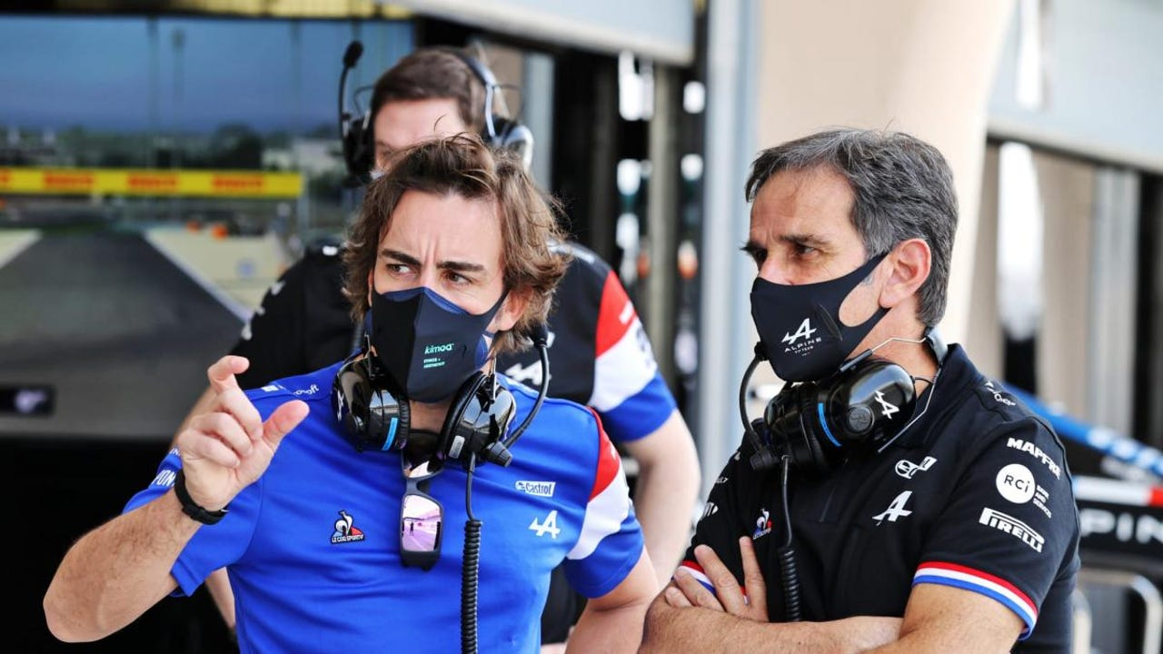 Fernando Alonso y Davide Brivio