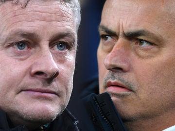 Ole Gunnar Solskjaer y José Mourinho.