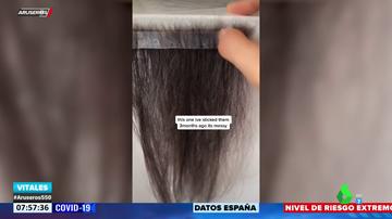 Una joven recoge el pelo que se le cae durante un año para hacerse extensiones