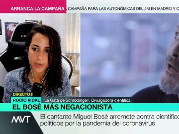 Rocío Vidal, 'La Gata de Schrödinger', responde a Miguel Bosé.