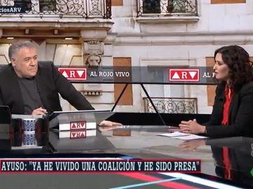 Isabel Díaz Ayuso, en Al Rojo Vivo