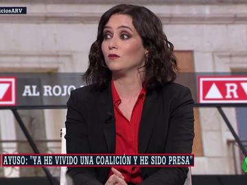 """Ayuso pide que nadie se relaje el 4M y no descarta a Cs ni Vox: """"He vivido una coalición y he sido presa"""""""
