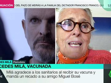 """Mercedes Milá asegura tener """"una información"""" que justificaría la """"agresividad"""" de Miguel Bosé con el coronavirus: """"Una mala experiencia con vacunas"""""""
