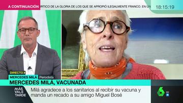 """La feroz crítica de Mercedes Milá a su amigo Miguel Bosé: """"¿Cómo pudo comparar cualquier cosa de este momento con el Holocausto?"""""""