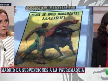 Isabel Díaz Ayuso defiende las subvenciones al toro de lidia