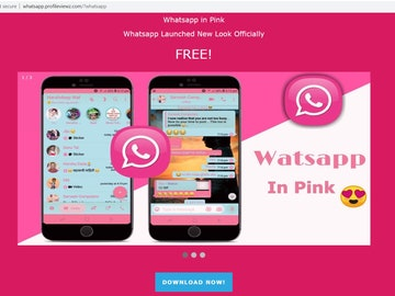 Versión rosa de 'WhatsApp', que resulta ser una estafa