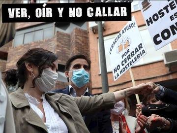 Isabel Díaz Ayuso en un acto de campaña