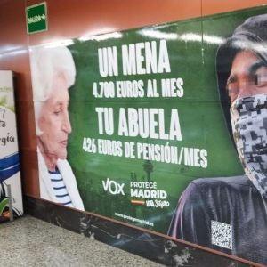 Cartel de Vox en Madrid