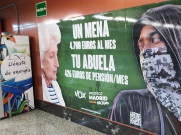 Cartel de Vox en Madrid