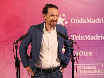 Pablo Iglesias en el primer debate del 4M
