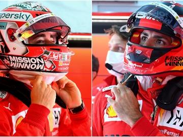 Charles Leclerc y Carlos Sainz