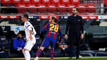 Bordalás, en el FC Barcelona - Getafe
