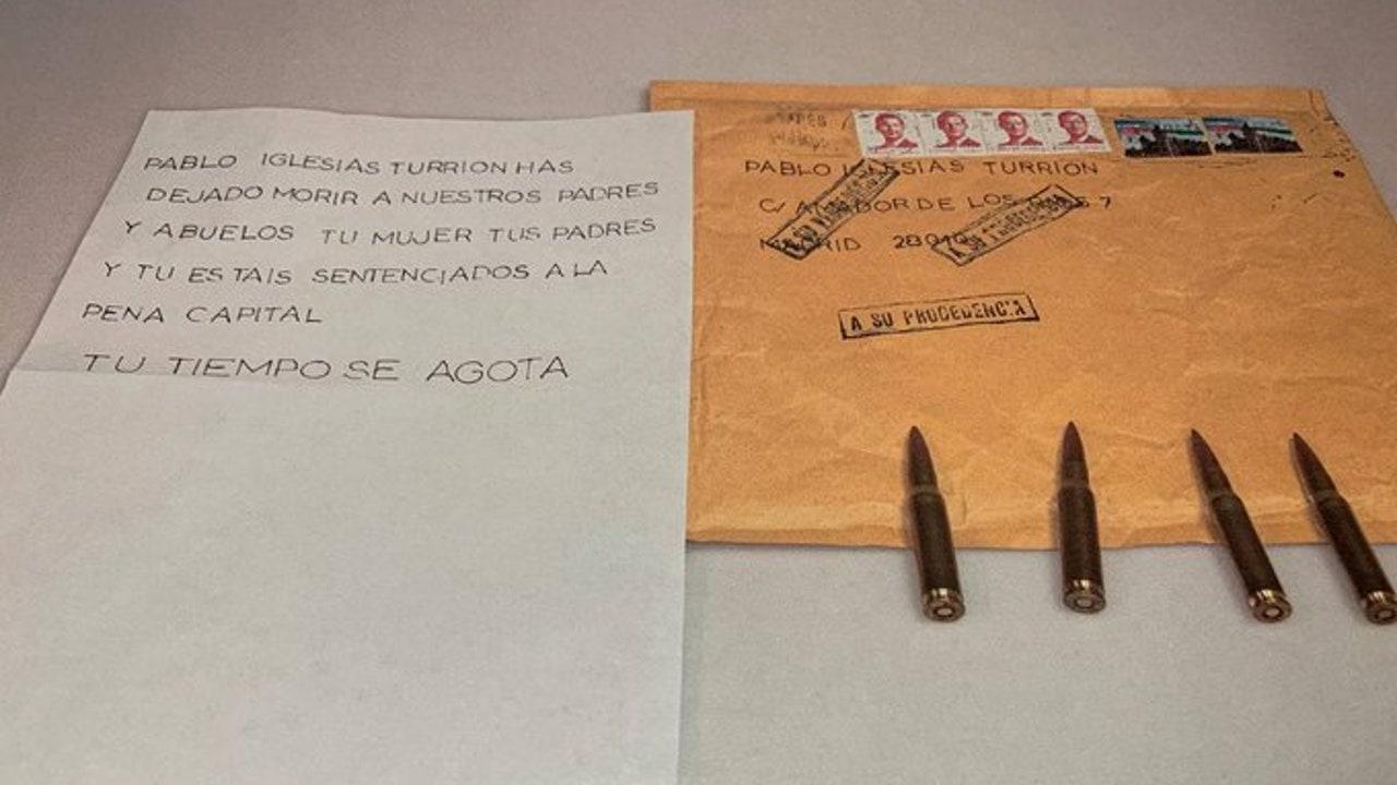 La carta de amenaza recibida por Pablo Iglesias