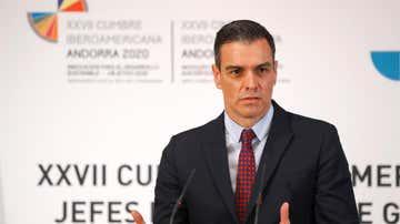 l presidente del Gobierno español, Pedro Sánchez, tras finalizar la XXVII Cumbre Iberoamericana