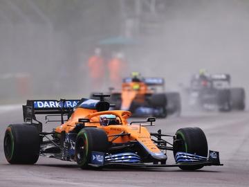 El McLaren de Ricciardo