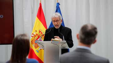 José Sacristán en la celebración del Día Internacional del Libro