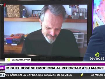 """Miguel Bosé rompe a llorar al hablar de su madre: """"Desde pequeños nos enseñó a volar"""""""