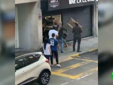 pelea a sillazos