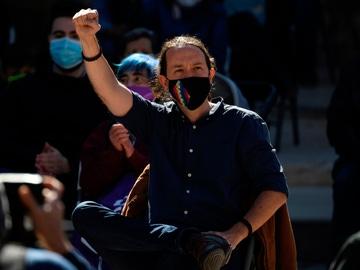 El candidato de Podemos a la Comunidad de Madrid, Pablo Iglesias