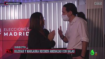Iglesias abandona el debate de la SER tras no retractarse Monasterio (Vox)