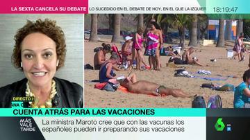 """La advertencia de Ana Céspedes sobre si podremos viajar de verano: """"Espera lo mejor y prepárate para lo peor"""""""