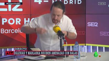 Pablo Iglesias abandona el debate la SER