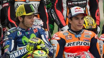 Valentino Rossi, junto a Marc Márquez