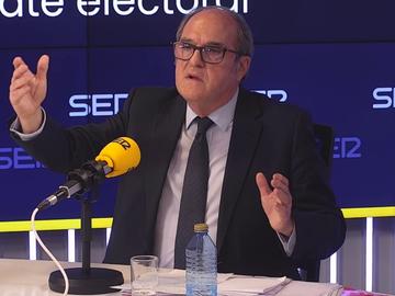 Ángel Gabilondo, durante el debate de la Cadena SER por el 4M
