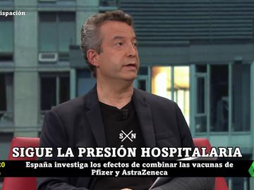 """El doctor Carballo advierte sobre el nuevo perfil del contagiado en los hospitales: """"Gente joven que llega con placas muy malas, como las que veíamos de neumonías bilaterales"""""""