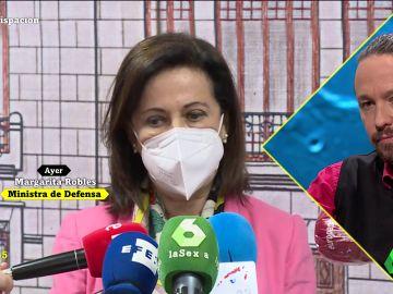 """La respuesta de Pablo Iglesias a Margarita Robles tras afirmar que no le """"hará la campaña"""""""