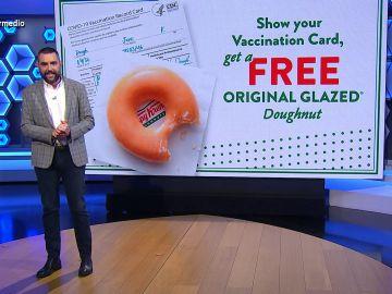 Donuts gratis durante un año y otras surrealistas iniciativas para fomentar la vacunación en EEUU