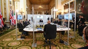 Imagen de la primera sesión de la reunión de ministros del G7 en Londres
