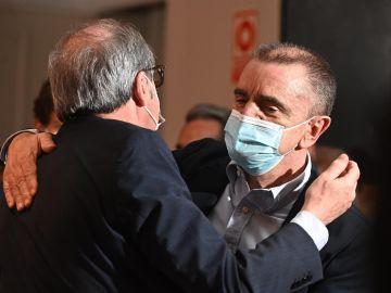 El candidato del PSOE en Madrid, Ángel Gabilondo, junto al secretario general del PSOE-M, José Manuel Franco