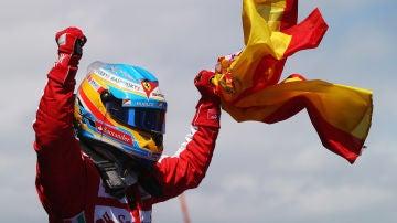 Fernando Alonso en el GP de Barcelona en 2013