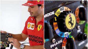 Sainz explica como funciona el volante de un Fórmula 1
