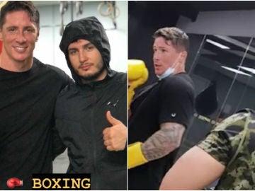 Fernando Torres y Omar Montes practicando boxeo
