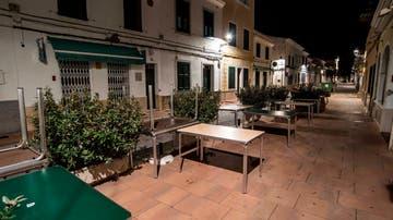 Aspecto de la calle principal de Sant Lluís, en Menorca