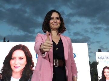 Isabel Díaz Ayuso, durante su mitin de cierre de campaña por las elecciones del 4M
