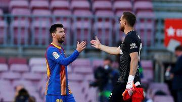Leo Messi y Jan Oblak