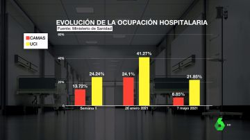 Evolución de la ocupación hospitalaria en España