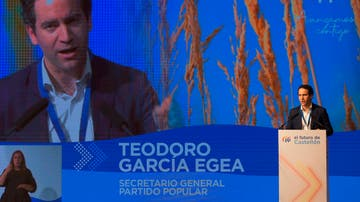 Teodoro García Egea, en el Congreso provincial de Castellón del PP