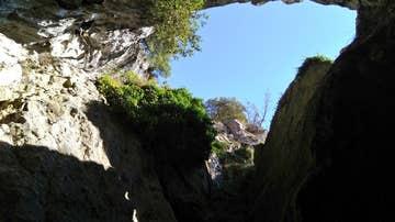 Las cuevas de Baltzola, vistas desde el interior